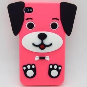 Dog ruber case pink