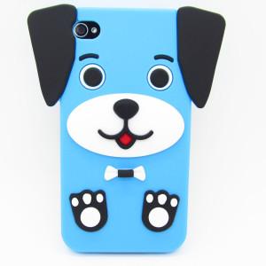 dog ruber case-blue