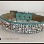 Blue crystal collar