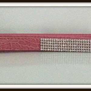 pink crystal leash